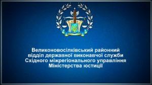 Великоновосілківський районний відділ державної виконавчої служби