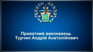 Приватний виконавець Турчин Андрій Анатолійович